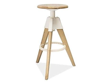 Cucina sgabello sgabello legno bianco faggio in scandinavian design