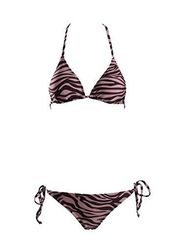 SeaBeauty Women's Sexy Swimsuit Tie Side Bottom Padded Top Triangle Bikini Set Beach Bathing Suit