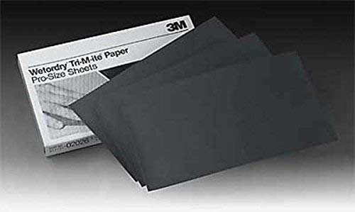 3000 Grade 3M Wetordry Black Abrasive Sheet 5 1//2 x 9 in 01998