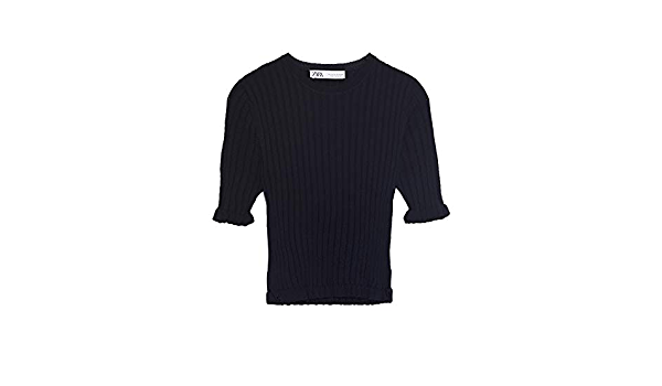 Zara 2162/100/800 - Jersey de Punto Acanalado para Mujer ...