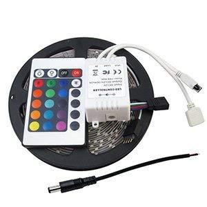 Fiesta Tanbaby Non-Waterproof led Strip 3528smd RGB DC12V 60led/M led Flexible Stripe Ribbon, 24key RGB Controller, DC Power Cable