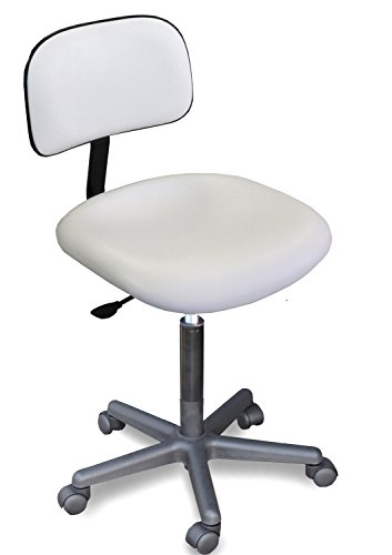 920 E Medical Physician White Adjustable Chair Seat Made in USA by Dina Meri (Stool Adjustable Physician)