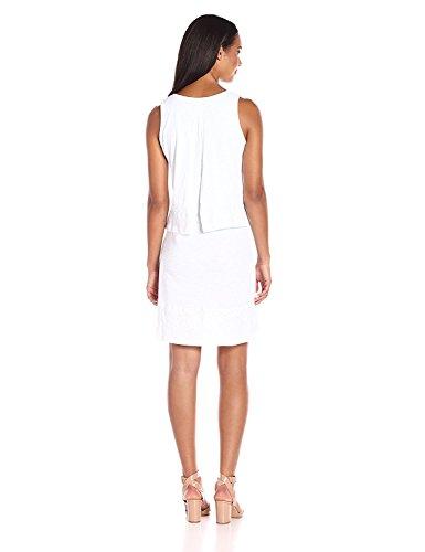 Jacob Oliver New style Women's Cotton Jersey Lace Hem Tank Dress White8/10 comfortable