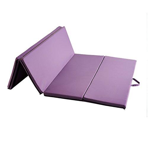 KOOLWOOM Gymnastics Mat PU Leather Thick Folding Panel for G