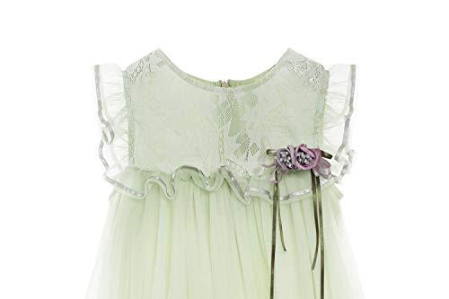 Zedde Little Girls 1-8T Lace Sleeveless Party Birthday Tulle Dresses Pageant Toddler Flower Girl Dress