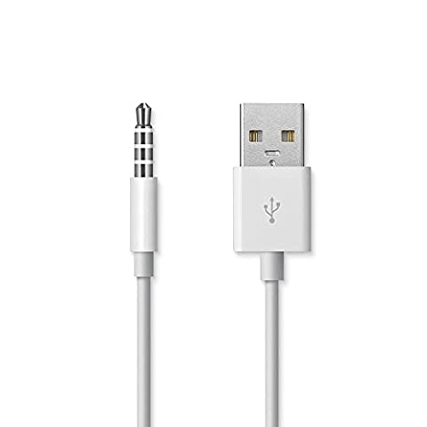 COOLEAD- High Quality USB Cable Cord for Apple Ipod Shuffle and Shuffle Clip 3rd Gen and 4th Gen - iPod Shuffle USB Charging and Sync Cable, Compatible with Macs and (Ipod Charger 4th Gen)