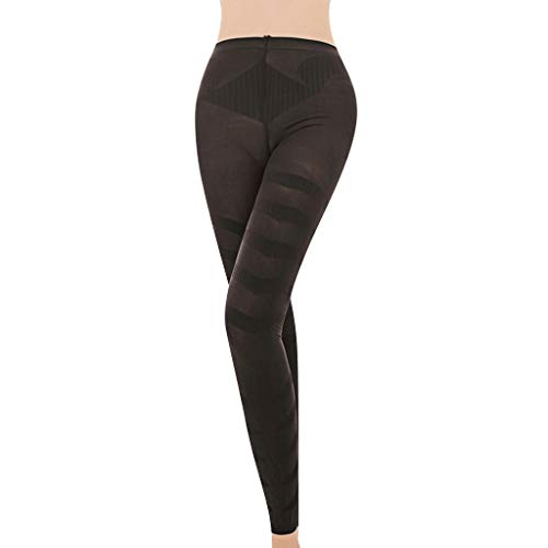 Women Shapewear Legging Socks, Fashion Seamless Sculpting Sleep Leg Shaper Pants Legging Socks Body Shaper (L, Black)