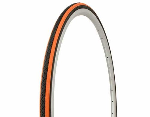 Tire Duro 700 x 25c Black Orange Shoulder/Black Center HF-187. Bicycle tire, bike tire, track bike tire, fixie bike tire, by Lowrider
