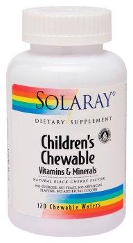 Solaray - Enfants Multi Chew Cherry, 120 comprimés à croquer