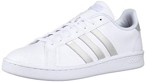 adidas Women's Grand Court Track and Field Shoe, FTWR White/Grey Two, 9 Standard US Width US