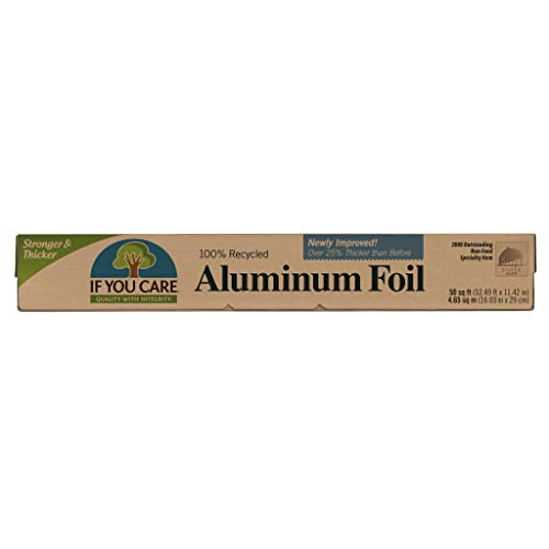 Foil Heavy Aluminum Duty Wrap - IF YOU CARE 100% Recycled Aluminum Foil Roll, 50 Sq. Ft. Roll