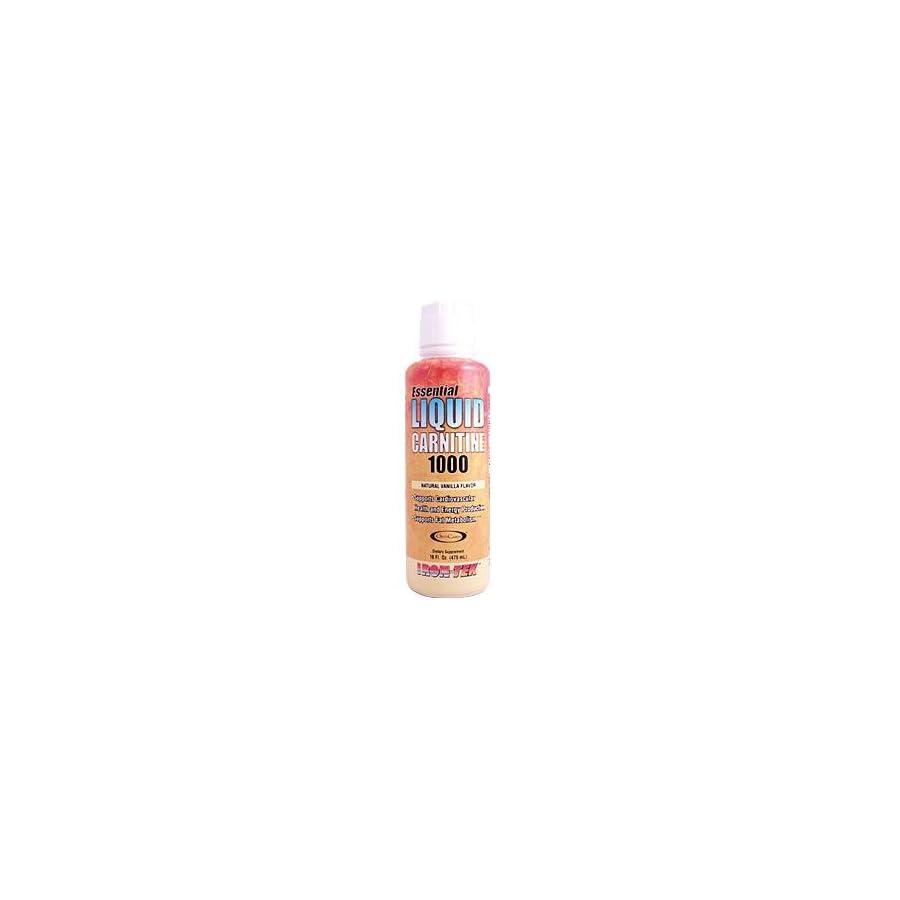 Iron Tek Essential Liquid Carnitine 1000, Natural Vanilla, 16 Ounce