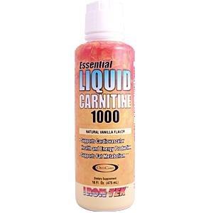 iron tek essential liquid carnitine 1000 natural vanilla