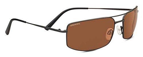- Serengeti Classic Metal Treviso Satin Dark Gunmetal Drivers Sunglasses
