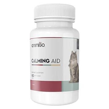 Animigo Ayuda Calmante para Gatos 60 Comprimidos Masticables Relajantes: Amazon.es: Productos para mascotas