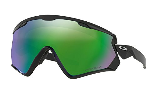Oakley Wind Jacket 2.0 Sunglasses Matte Black with Prizm Snow Jade - Square Oakley 2.0