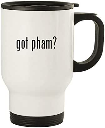 got pham? - 14oz Stainless Steel Travel Mug, White