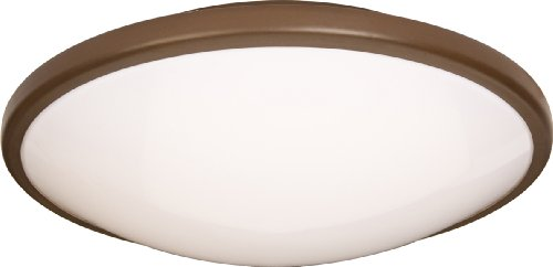 Maxim 87212OI Rim EE 2-Light Flush Mount, Oil Rubbed Bronze Finish, White Glass, 4-Pin T9 Circline Fluorescent Bulb , 15W Max., Wet Safety Rating, 3000K Color Temp, ELV Dimmable, Acrylic Shade Material, 1050 Rated Lumens ()
