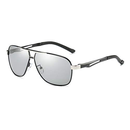 Marco de de Sol de ShenZuYangShop Hombres Color Gafas Las polarizadas Sol Llevar Las de Gafas Las Gafas del Retro los para Gafas Espejo de Sol Las silver Black de Black Gold Color de del Sol de metálico xOOqZ7XAw