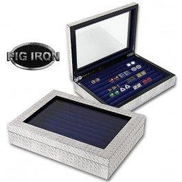 - Pig Iron Diamond Plate Cufflink/Jewelry Box