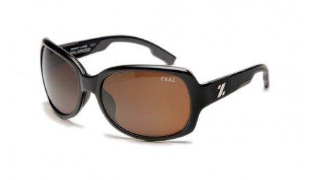 Zeal Optics Women's Penny Lane Polarized Black Gloss W / Copper Polarized Lens - Sunglasses Zeal
