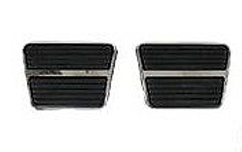GM Brake and Clutch Pedal Pad Set w/ Stainless Steel Trim Rick' s Corvette & Custom Chevy Products R1455