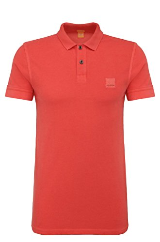Price comparison product image BOSS Orange Men's Pascha Block Polo Shirt,  Red,  Small