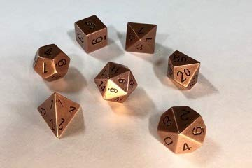 Chessex: 7-Die Set Metal: Copper Color - - Metal Chessex Dice