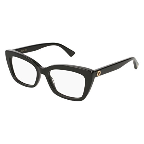 Eyeglasses Gucci GG 0165 O- 001 BLACK - Black Gucci All