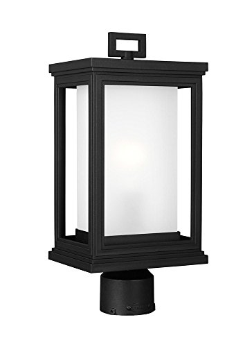 Murray Feiss Outdoor Fixtures (Murray Feiss OL12907TXB Lighting Roscoe One Light Outdoor Post Lantern, Textured Black Finish with White Opal Glass)