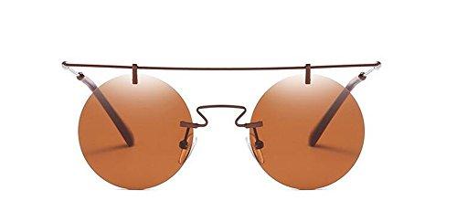 Cercle de Retro en Soleil de Steampunk Pour du Tranche Inspirées Thé Lunettes Style Hommes Polarisées Rond Métallique Femmes et T8z5fn5Yx