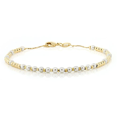 nch Yellow Gold Plated Brass Bracelet With Lobster Clasp ()
