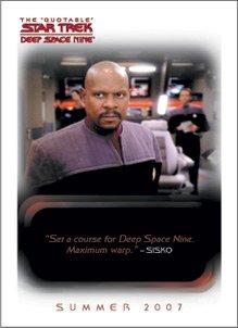 (Quotable Star Trek Deep Space Nine P1 Promo Card)