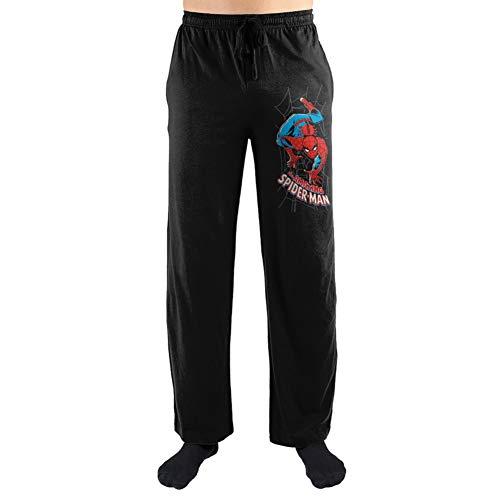 (The Amazing Spiderman Marvel Pajama Sleep Pants Licensed New (Large) Black)