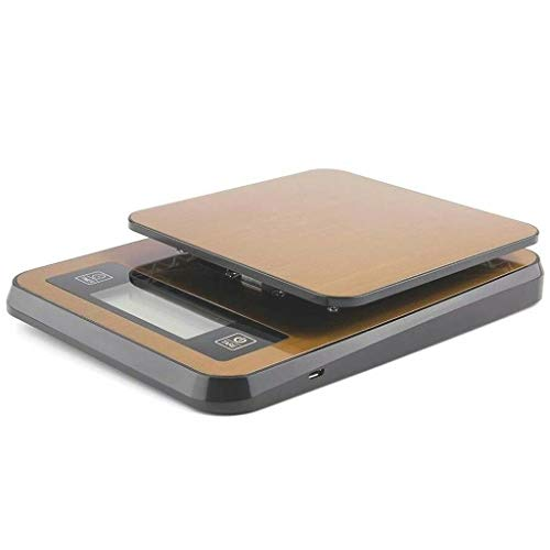 High Precision Kitchen Scale, with Timer Professional Food Scale High Precision Coffee Scale Stainless Steel with Tare Function LCD Display Anti-Slip 3kg/0.1g (Color : A, Size : 200 * 145 * 30mm) ()