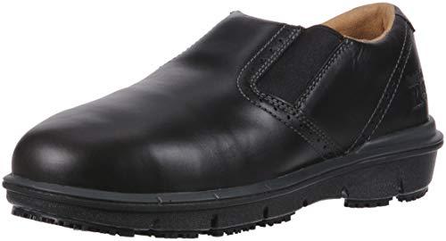 Timberland PRO Men's Boldon Slip on Alloy Toe SD+ Industrial Shoe, Black Full Grain Leather, 12 M US -