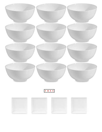 - Set of 12 Nevaeh White by Fitz and Floyd Rice Bowl with FREE! Buy More, Save More!