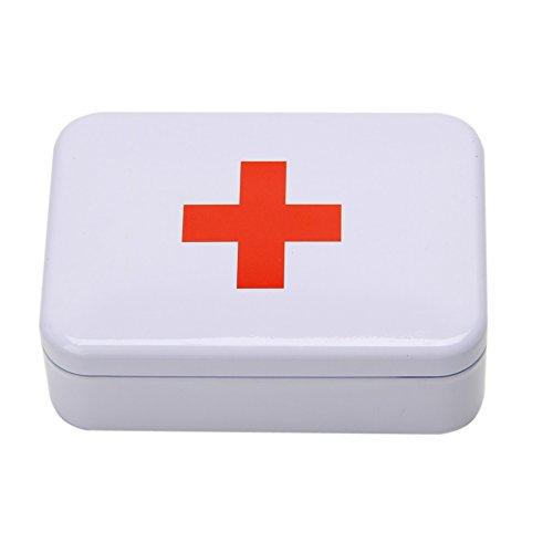 Coldtoy '+' Tin Box Case First Aid Pill Box