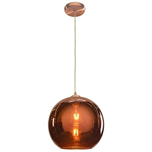 Access Lighting 28102-BCP/CP Glow 12 inch W Pendant - Brushed Copper Finish with copper Shade,