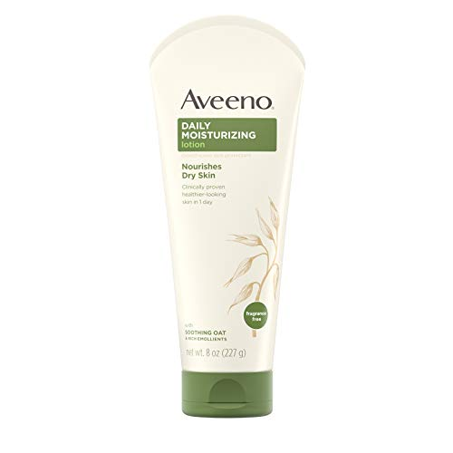 Aveeno Daily Moisturizing Body Lotion with Soothing Oat and Rich Emollients to Nourish Dry Skin, Fragrance-Free, 8 fl. oz (Best Rated Drugstore Shampoo)