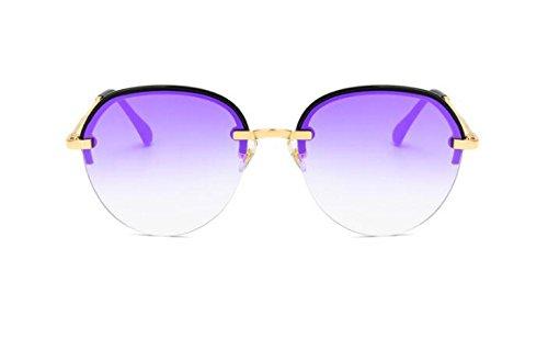 lunettes Colorées Soleil Lunettes Soleil Soleil Lunettes Mode Polarisées Rétro De Soleil De Rondes Lunettes Demi Tendance Lunettes De De E vxnWAO