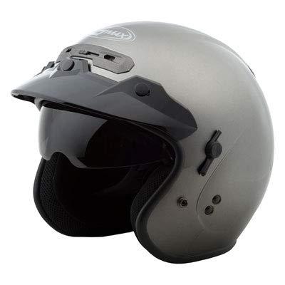 GM-32 OPEN-FACE HELMET TITANIUM LG 100 Open Face Helmets