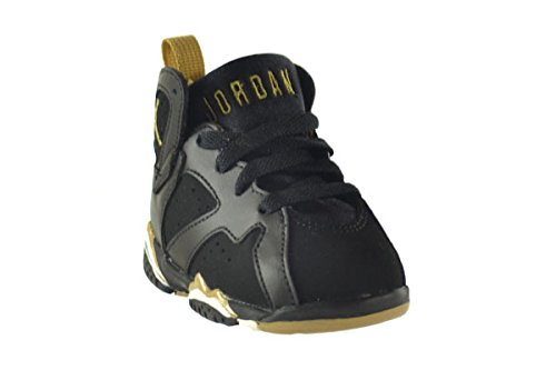brand new f9697 a7f1f Jordan 7 Retro (TD) Baby Toddlers Shoes Black/Metallic Gold ...