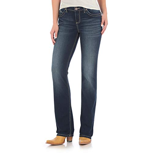 Wrangler Women's Q-Baby Mid Rise Boot Cut Ultimate Riding Jean, NR WASH, 9X30