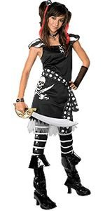 Drama Queens Scar-let Pirate Teen Halloween Costume Size 0-2 Small