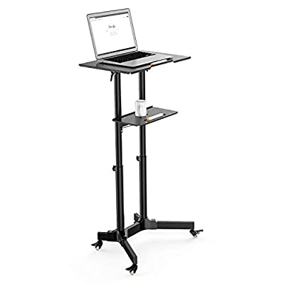 Desk Cart Height and Angle Adjustable Tilt Spliting Stand Table for Mobile Laptop
