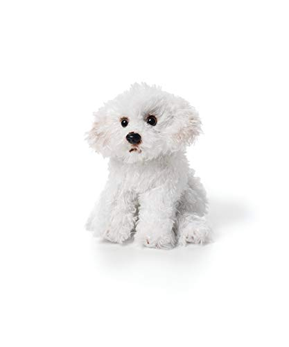 - DEMDACO White Bichon Frise Children's Plush Beanbag Stuffed Animal Toy
