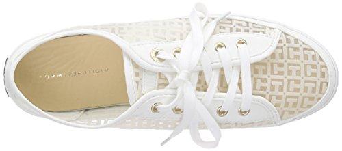 Tommy Hilfiger K1285esha 13c - Zapatillas Mujer Blanco - Weiß (SNOW WHITE 118)