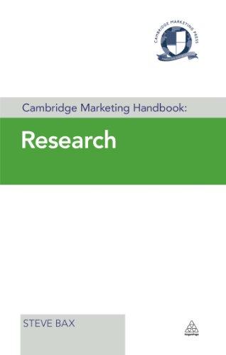 Cambridge Marketing Handbook: Research (Cambridge Marketing Handbooks) Pdf