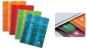 Various Colors Clairefontaine Wirebound Graph Notebook with 8 Tabs 4.25x6.75